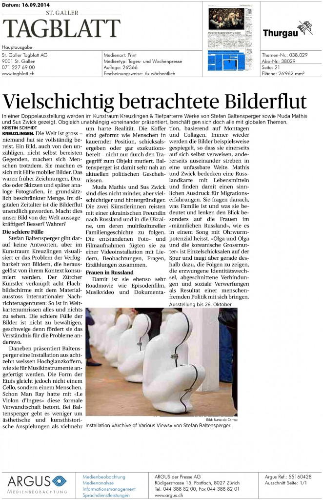 Tagblatt16 09-662x1024 in News / Upcoming / Recent Shows / ...